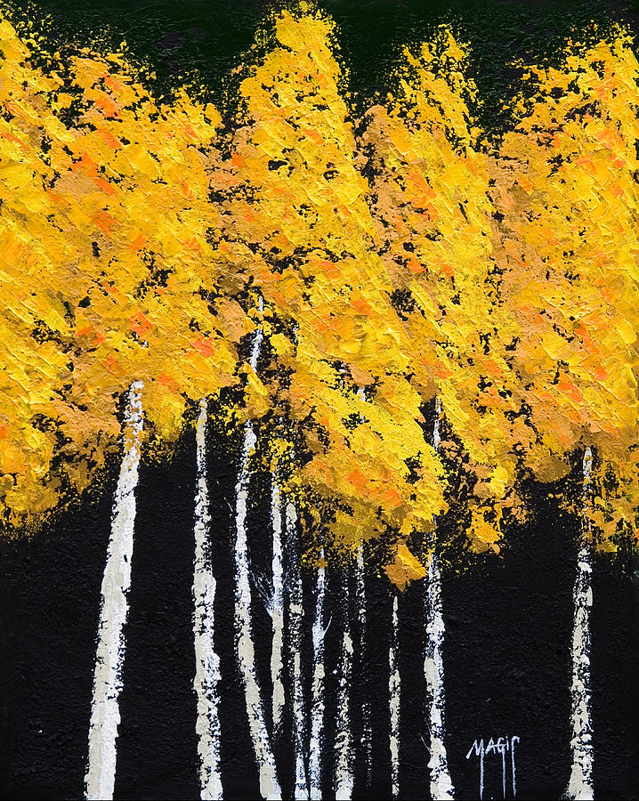 Yellow Trees Painting