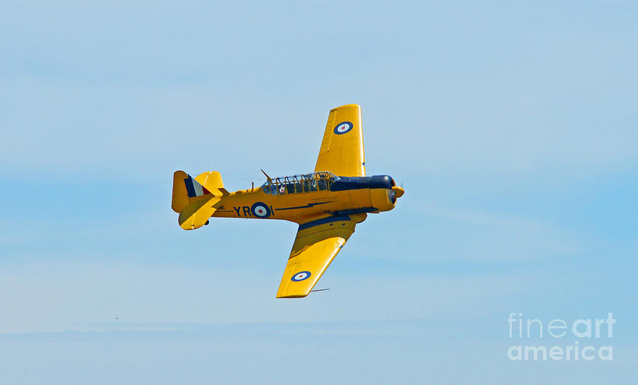 Yellow War Plane Photograph By Randy Harris