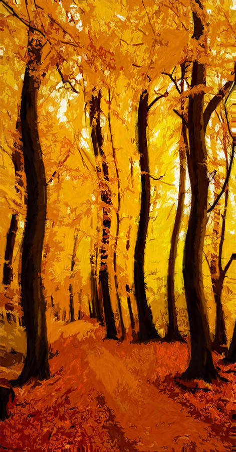 Yellow Wood Painting by Steve K