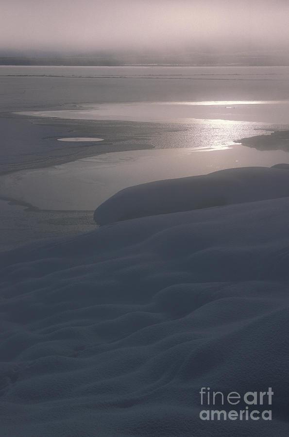 Landscape Photograph - Yellowstone Lake Sunrise by Sandra Bronstein