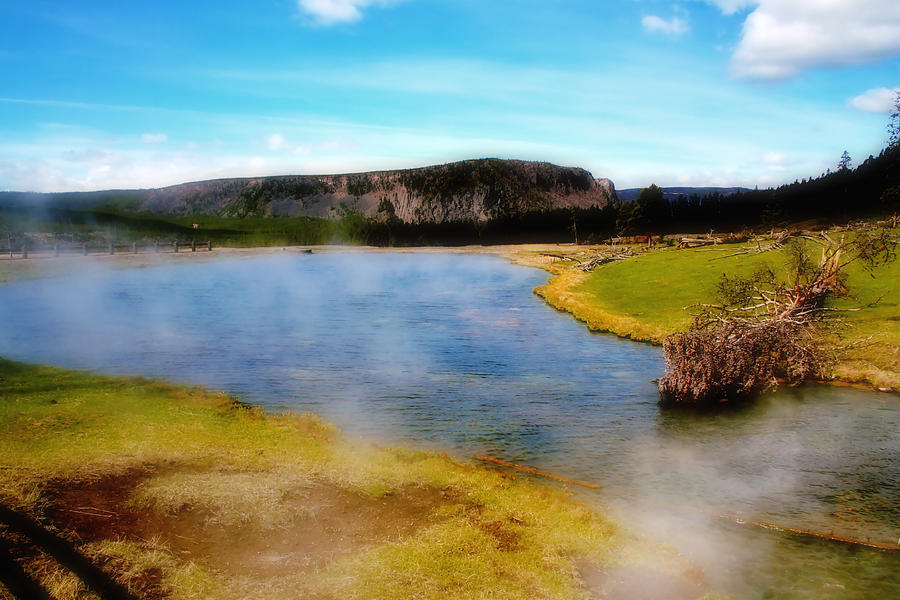 Nature Photograph - Yellowstone Landscape by Ellen Heaverlo