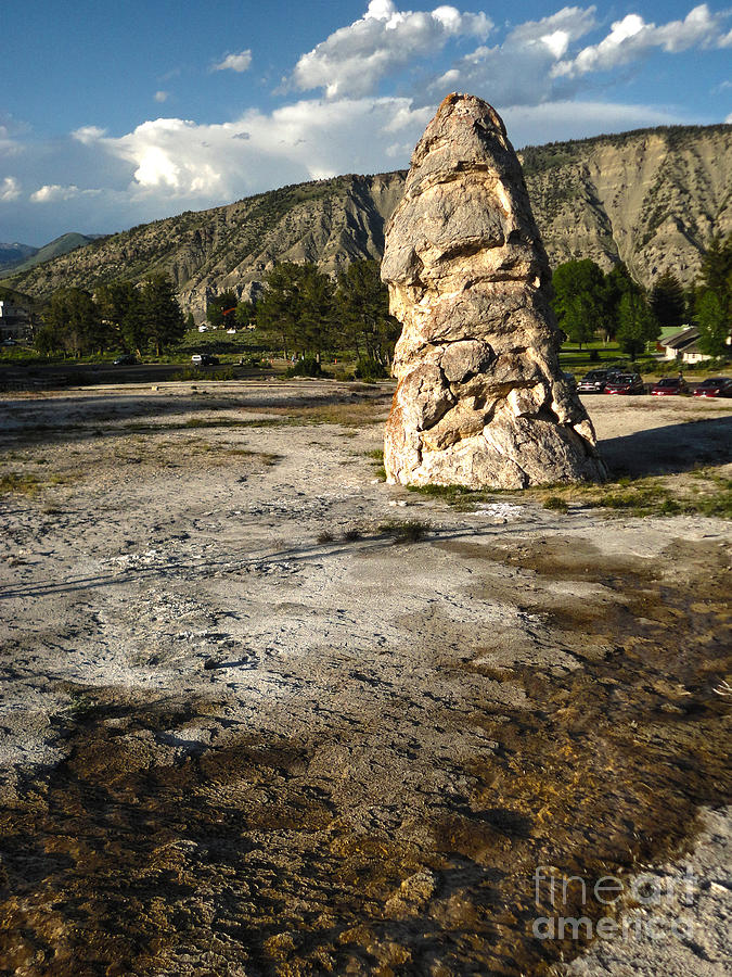 Yellowstone Photograph - Yellowstone National Park - Mammoth Hot Springs by Gregory Dyer