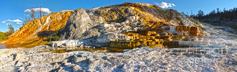 Yellowstone Photograph - Yellowstone National Park - Mammoth Hot Springs - Panorama by Gregory Dyer