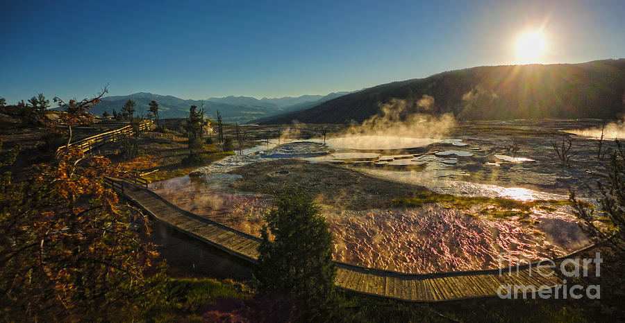 Yellowstone Photograph - Yellowstone National Park - Minerva Terrace - 05 by Gregory Dyer