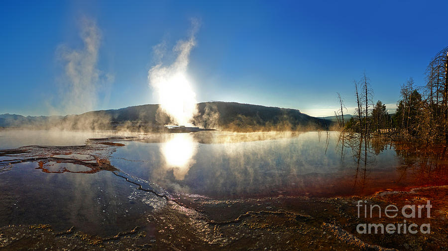Yellowstone Photograph - Yellowstone National Park - Minerva Terrace - 06 by Gregory Dyer