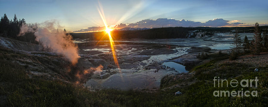 Yellowstone Photograph - Yellowstone Norris Geyser Basin At Sunset - 02 by Gregory Dyer