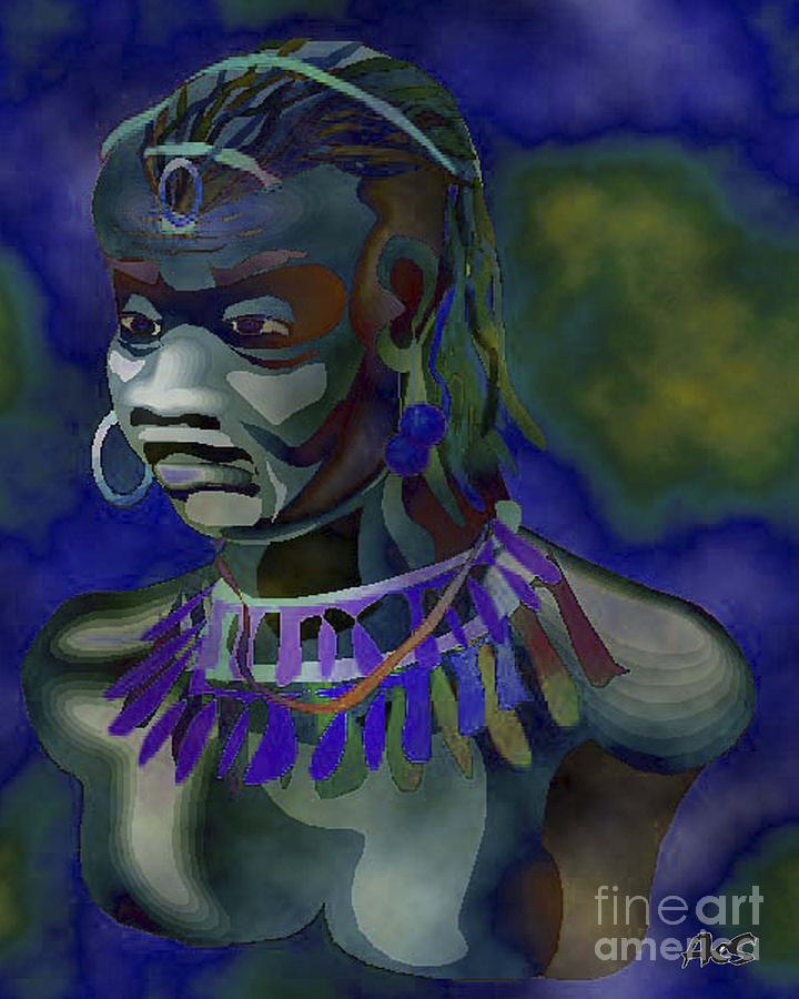 Yemaya Painting - Yemaya  by Liz Loz
