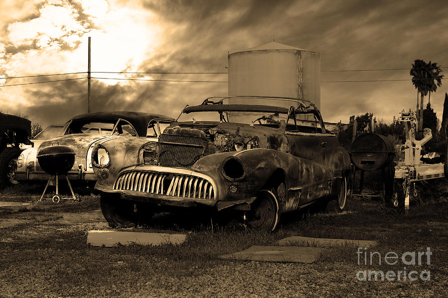 Black And White Photograph - Yesterday Came Early . Tomorrow Is Almost Over 2 . Sepia by Wingsdomain Art and Photography