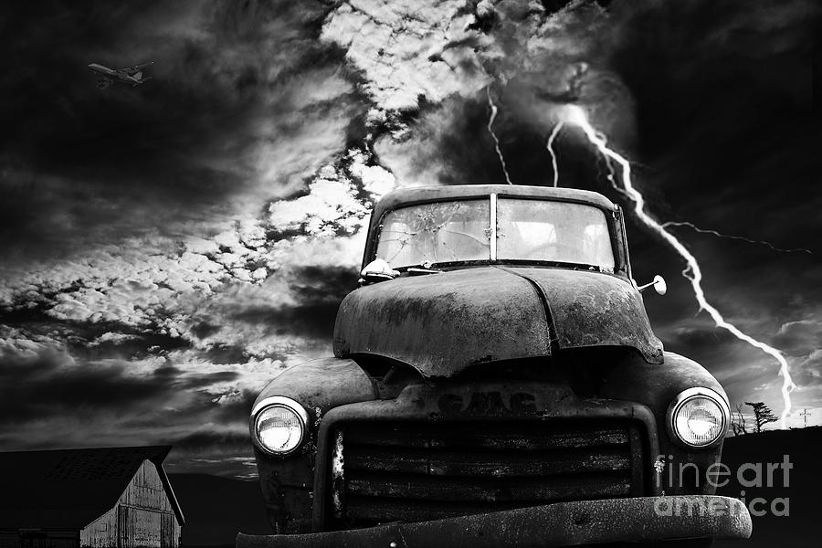 Transportation Photograph - Yesterday Came Early . Tomorrow Is Almost Over . Bw by Wingsdomain Art and Photography