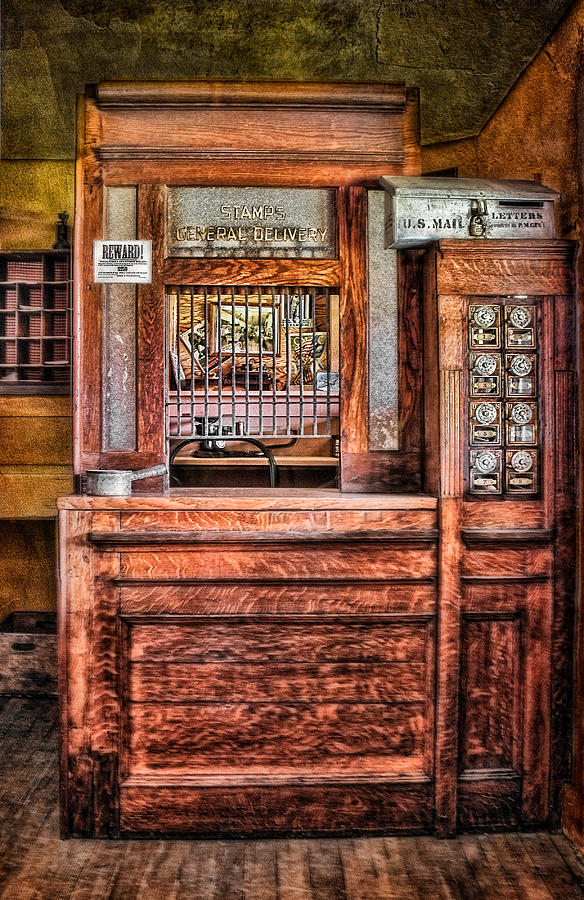 Post Office Photograph - Yesterdays Post Office by Susan Candelario