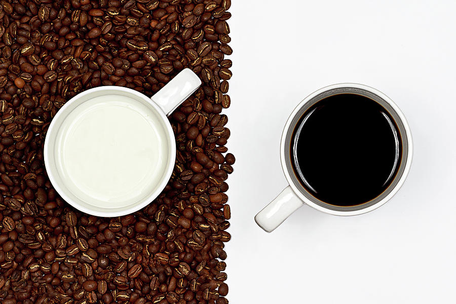 Horizontal Photograph - Yin And Yang Coffee And Milk by Gert Lavsen Photography