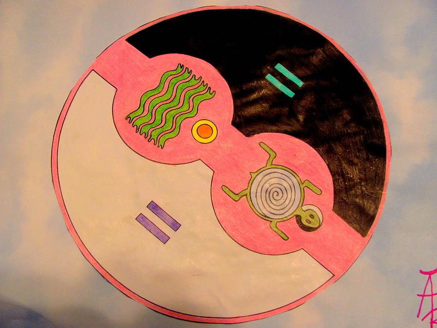 native mixed media yin yang native american mandala by amy bradley