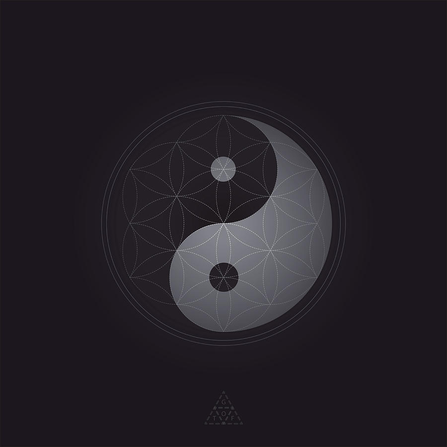 Yin Yang Digital Art - Yin Yang Seed V10.1 by Guardians of the Future