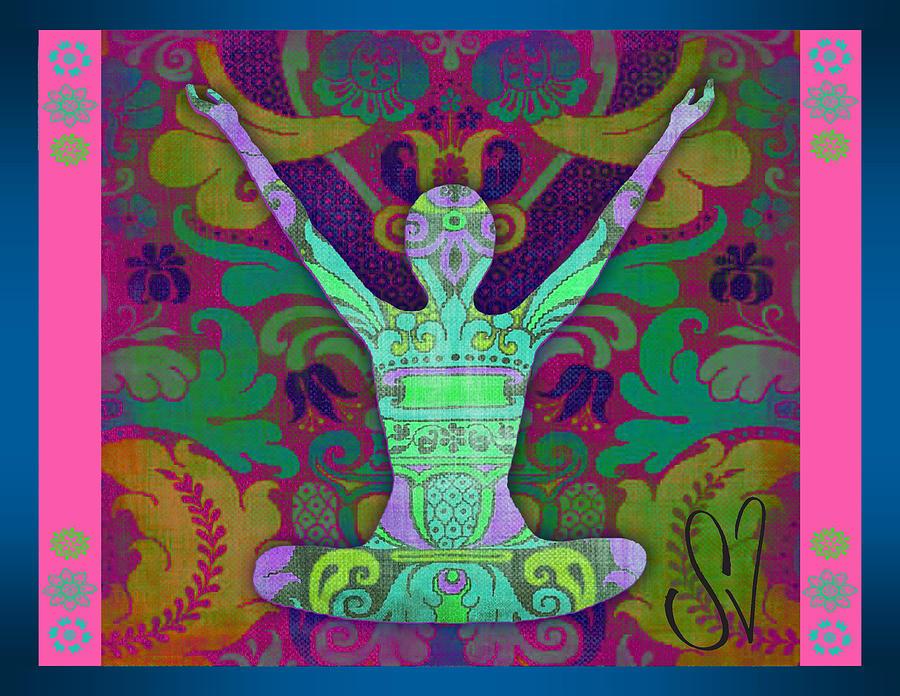 Indian Digital Art - Yoga Card by Dana Vogel