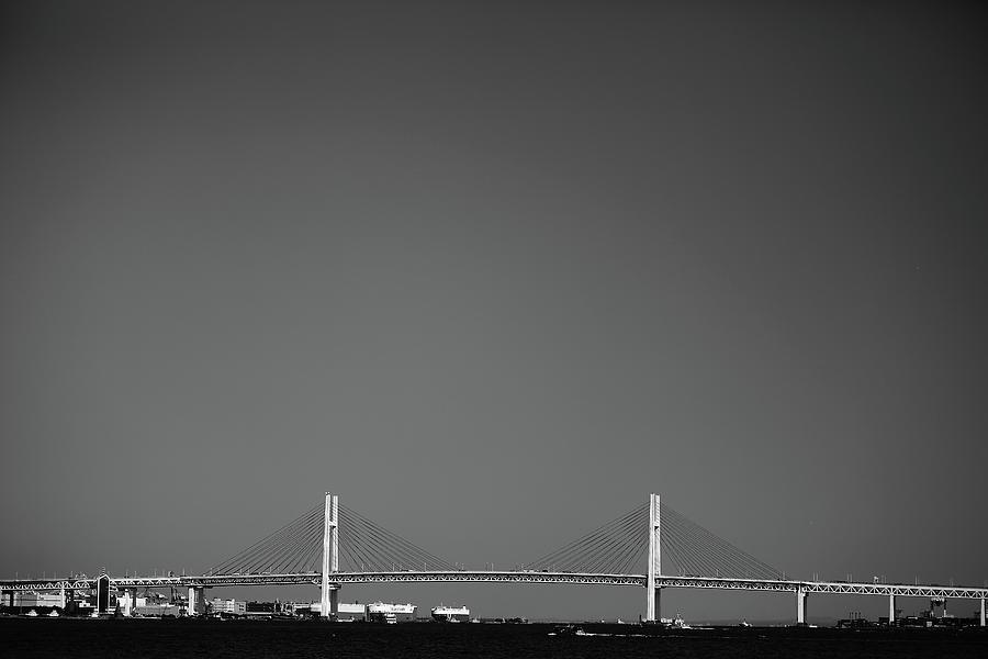 Horizontal Photograph - Yokohama Bay Bridge by Kiyoshi Noguchi