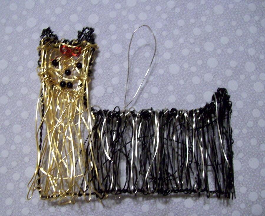 Dog Sculpture - Yorkie by Charlene White
