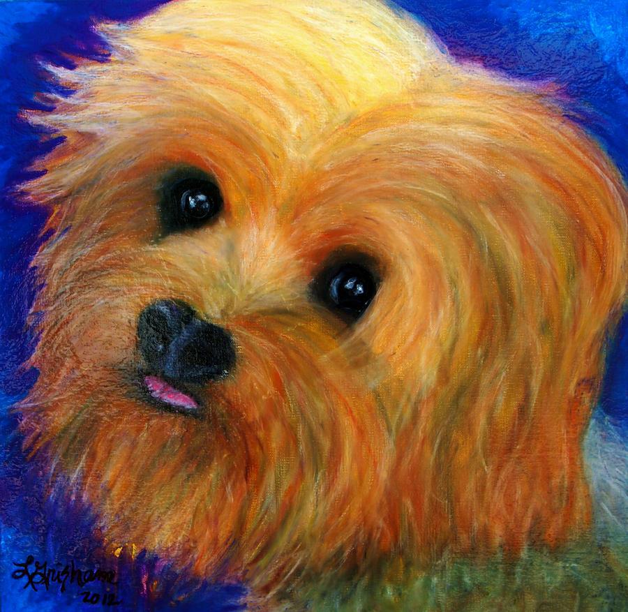 Painting Painting - Yorkie by Laura  Grisham