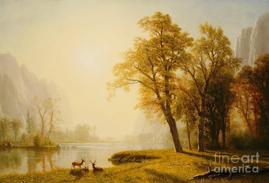 Albert Bierstadt Painting - Yosemite Valley by Albert Bierstadt