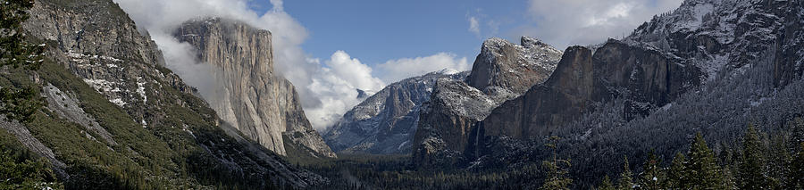 Yosemite Photograph - Yosemite Valley Panoramic From Tunnel View by Joseph Wilson