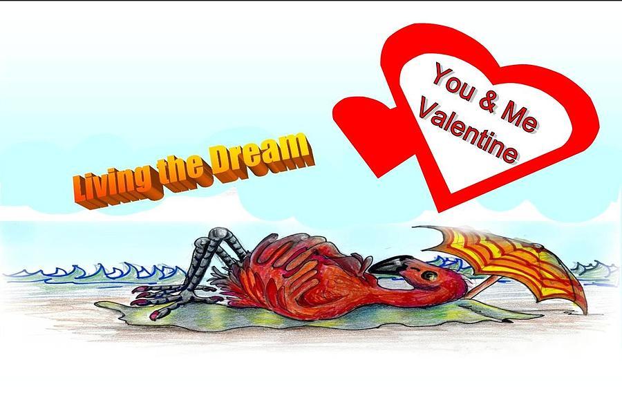 Valentine Drawing - You And Me Valentine by Carol Allen Anfinsen