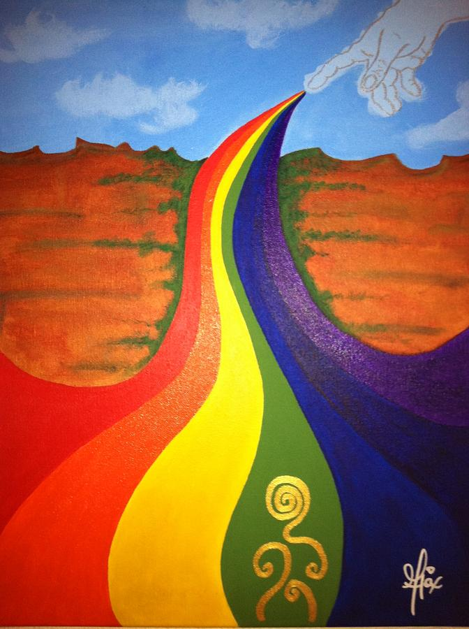 Rainbow Painting - You Are The Gold by Jean Ajax