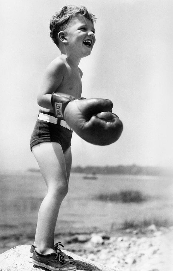 Child Photograph - Young Boxer by Doris Day
