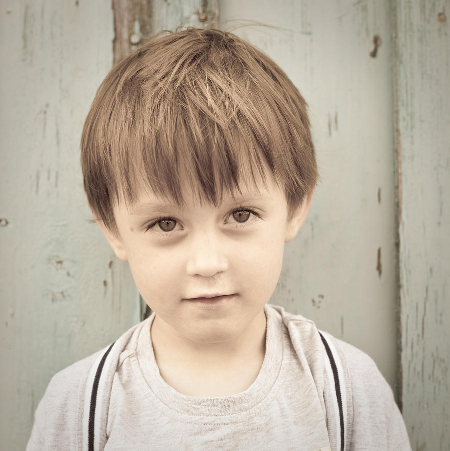 Adorable Photograph - Young Boy by Tom Gowanlock