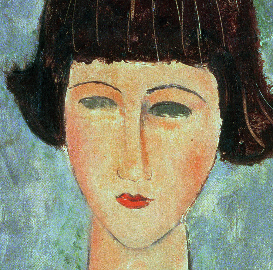 Head Painting - Young Brunette by Modigliani