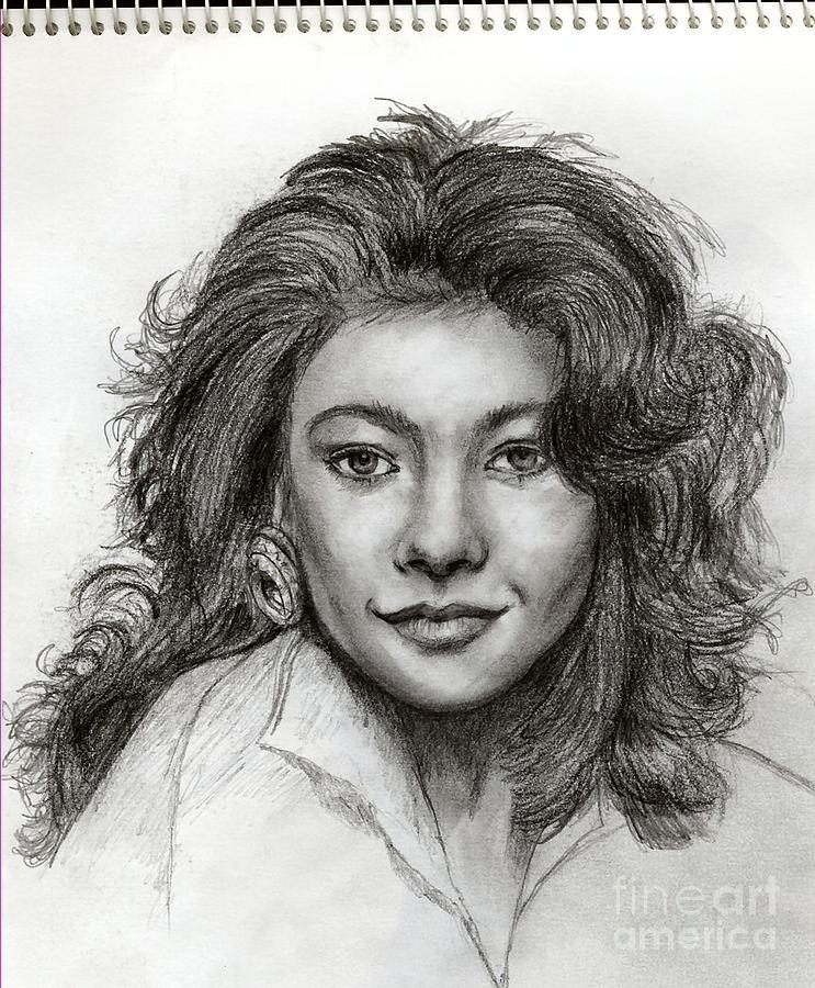 Young Catherine Zeta Jones Drawing By Carys Thomas