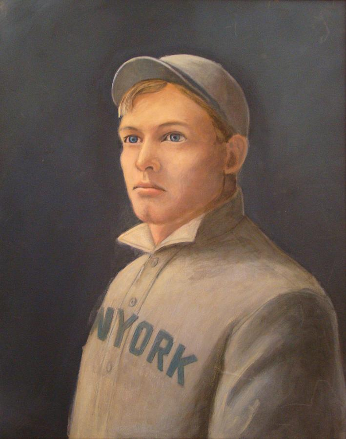 Giants Painting - Young Christy Mathewson by Mark Haley