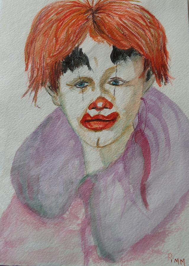 Clown Face Painting - Young Clown by Betty Pimm