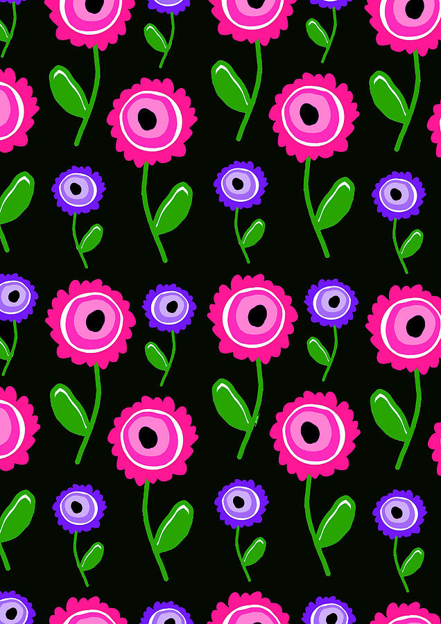 Flowers Digital Art - Young Florals  by Louisa Knight