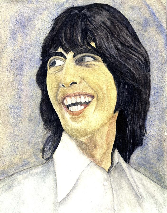 George Harrison Painting - Young George by Michael Rowley