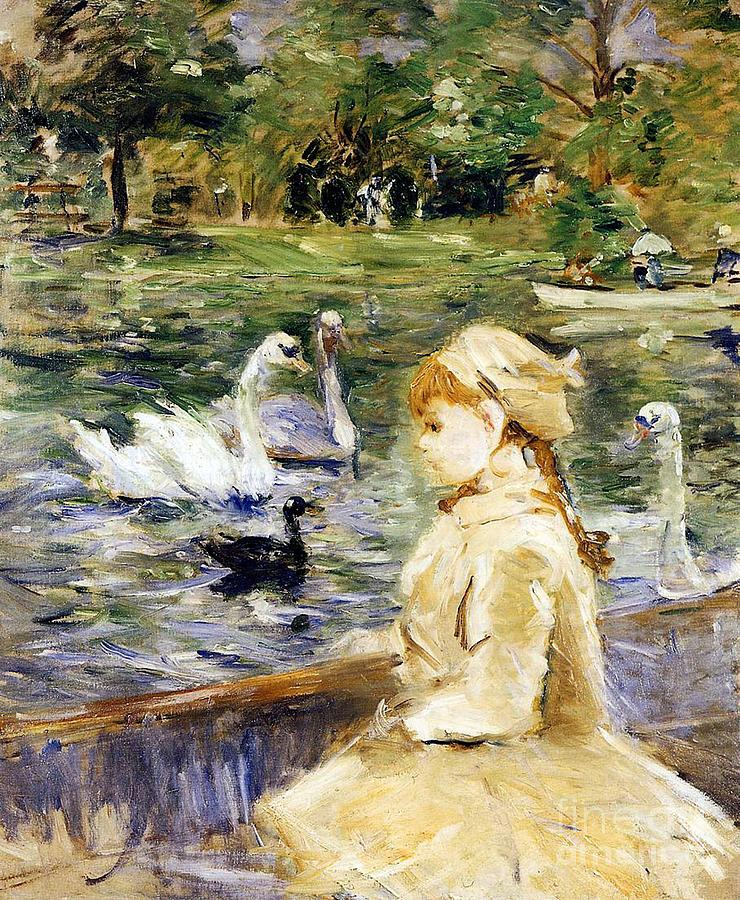 Young Girl Boating Painting - Young Girl Boating by Berthe Morisot