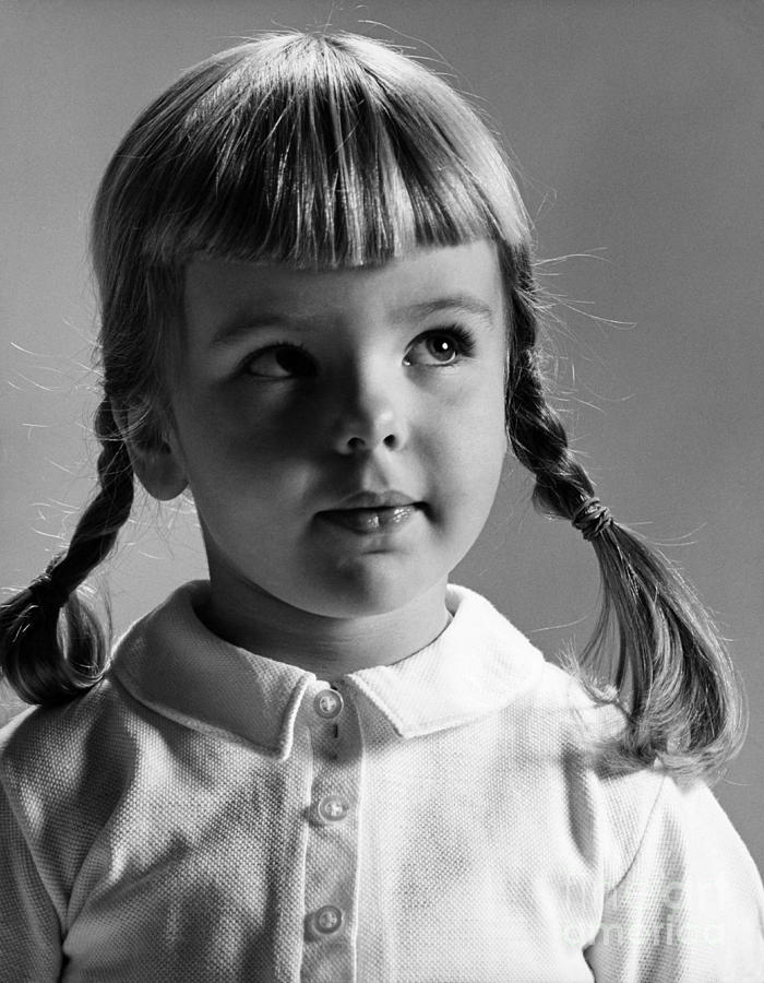 Girl Photograph - Young Girl by Hans Namuth and Photo Researchers