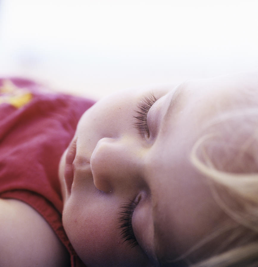 Face Photograph - Young Girl Sleeping by Cristina Pedrazzini