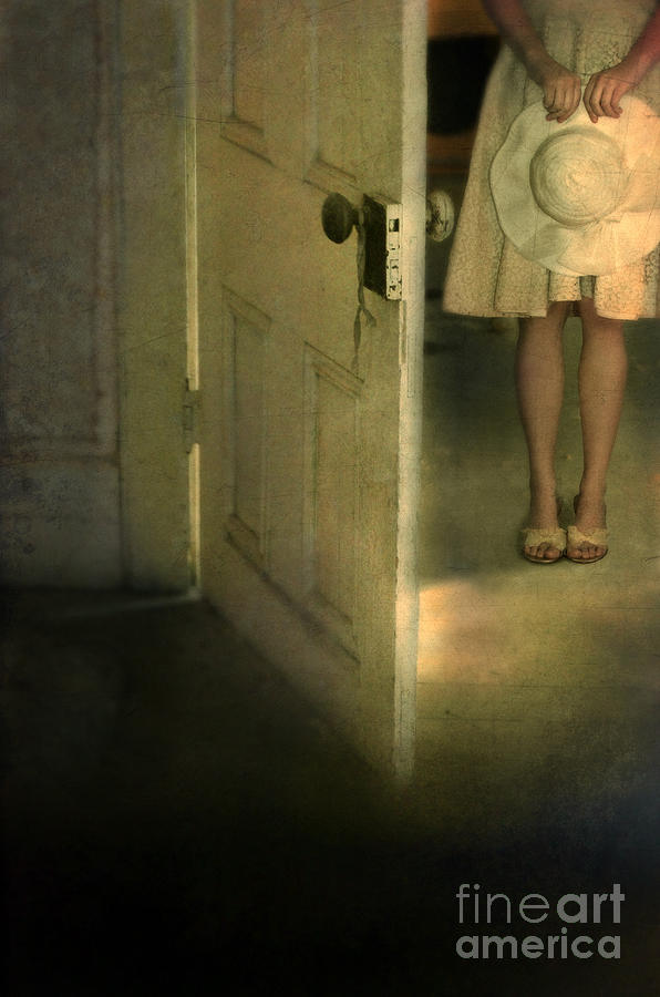Woman Photograph - Young Lady By Open Door by Jill Battaglia