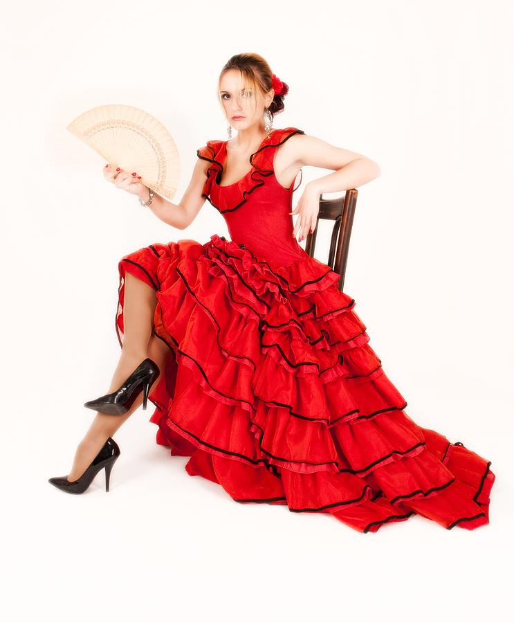young lady in hispanic red dress 03 photograph by vlad baciu. Black Bedroom Furniture Sets. Home Design Ideas