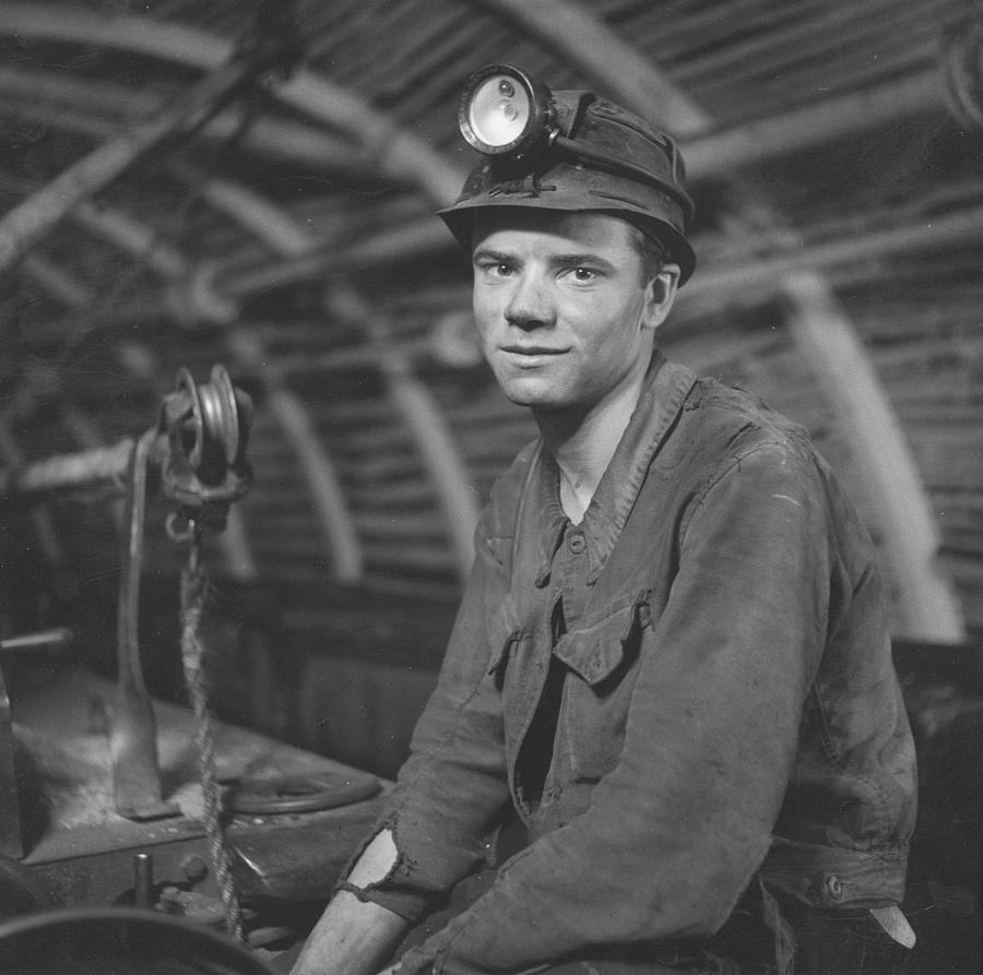Young Adult Photograph - Young Miner by John Craven