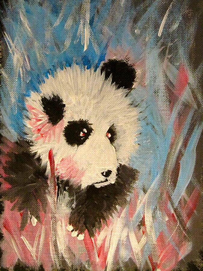 Panda Painting - Young Panda by Hannah Stedman