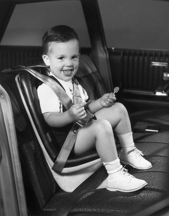 Child Photograph - Young Passenger by Archive Photos