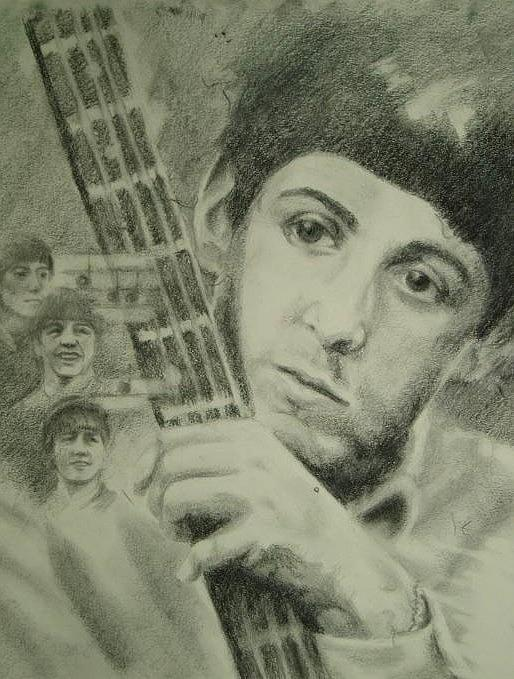 Pencil Drawing - Young Paul by Joanna Gates