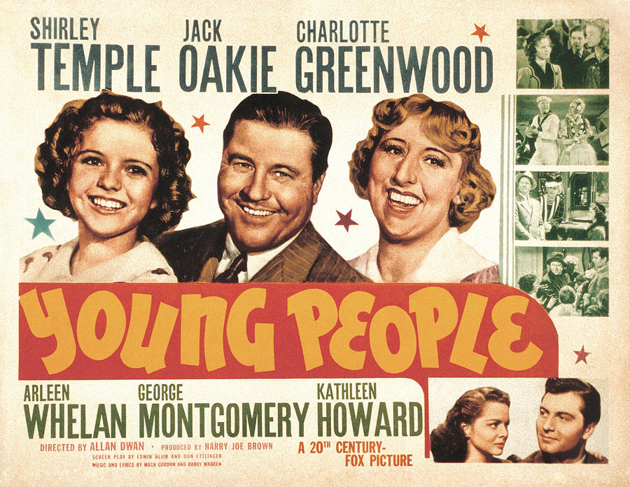 1940 Movies Photograph - Young People, Shirley Temple, Jack by Everett