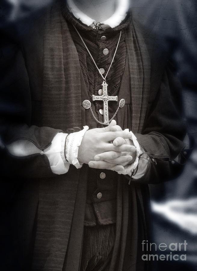 Priest Photograph - Young Renaissance Priest by Jill Battaglia
