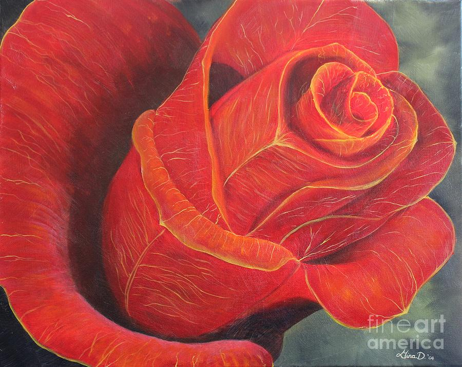 Rose Painting - Young Rose by Gina DeRuggiero