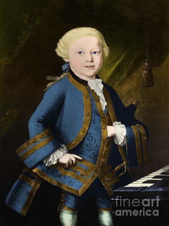 History Photograph - Young Wolfgang Amadeus Mozart, Austrian by Omikron