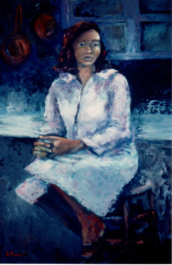 African American Woman Painting - Young Woman by Bettye  Harwell