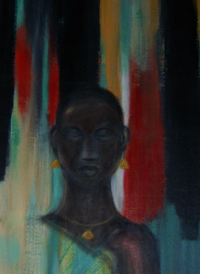 Figure Mixed Media - Young woman by Joseph Ferguson