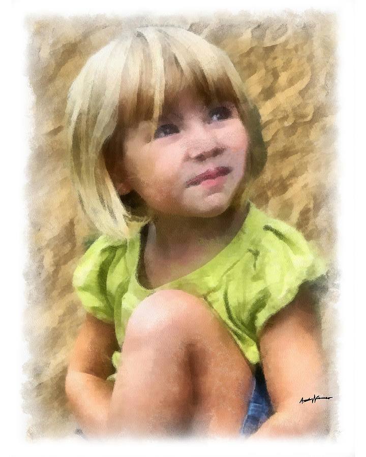 Portrait Painting - Youngest Daughter by Anthony Caruso