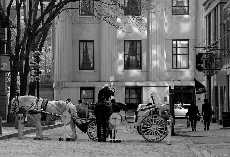 Quincy Market Photograph - Your Carriage Awaits by Kristine Patti